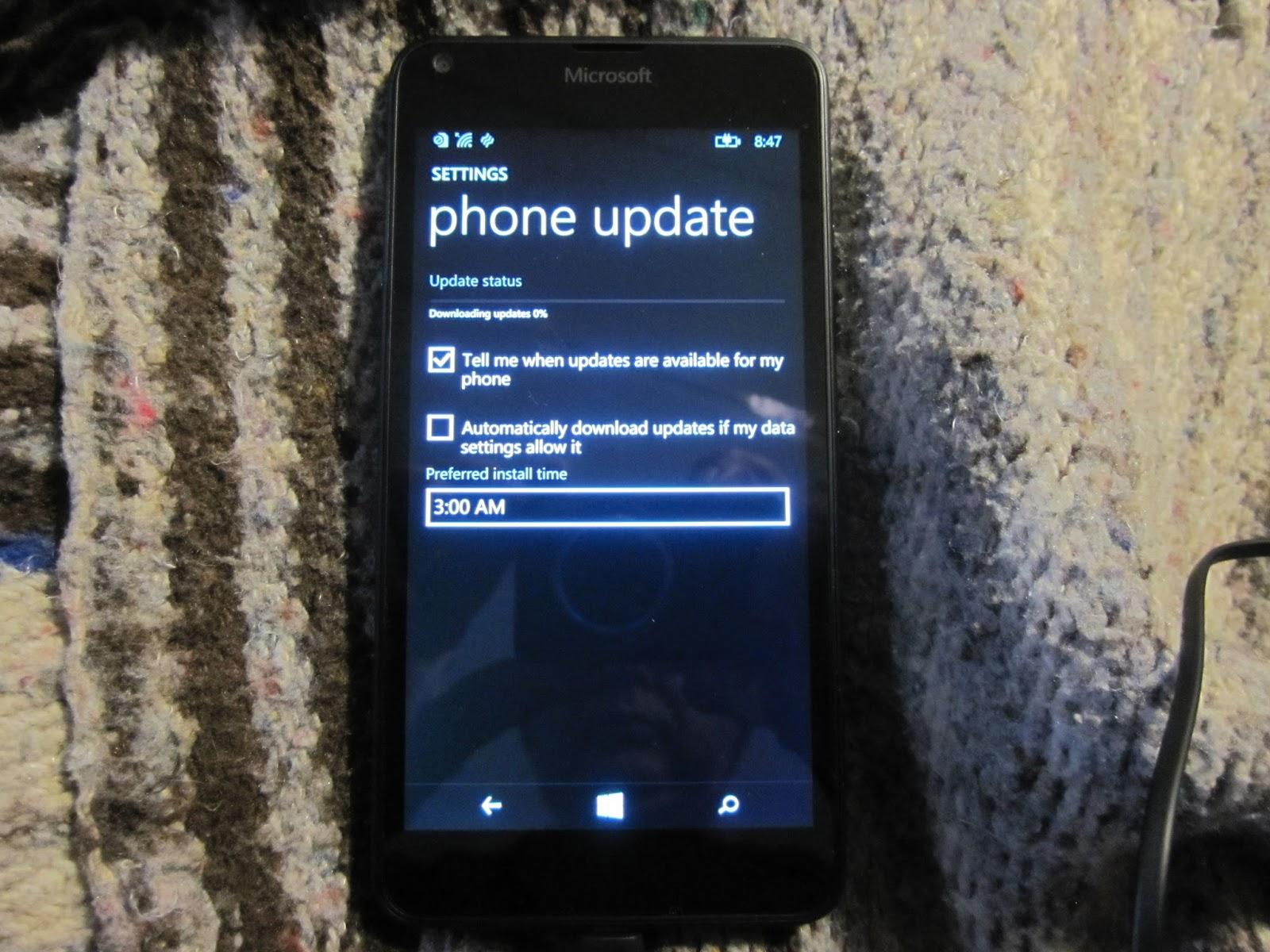 Windows 10 Mobile on Microsoft Lumia 640, Normal Way   Fine Oils