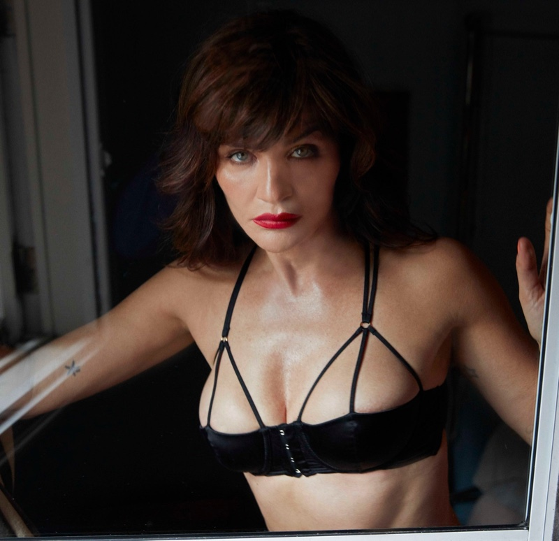 Helena Christensen stars in Coco de Mer Icons lingerie campaign.