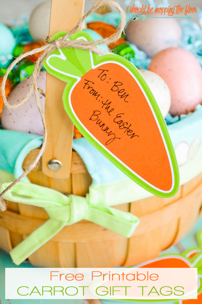 Free Carrot Tag Easter Printables