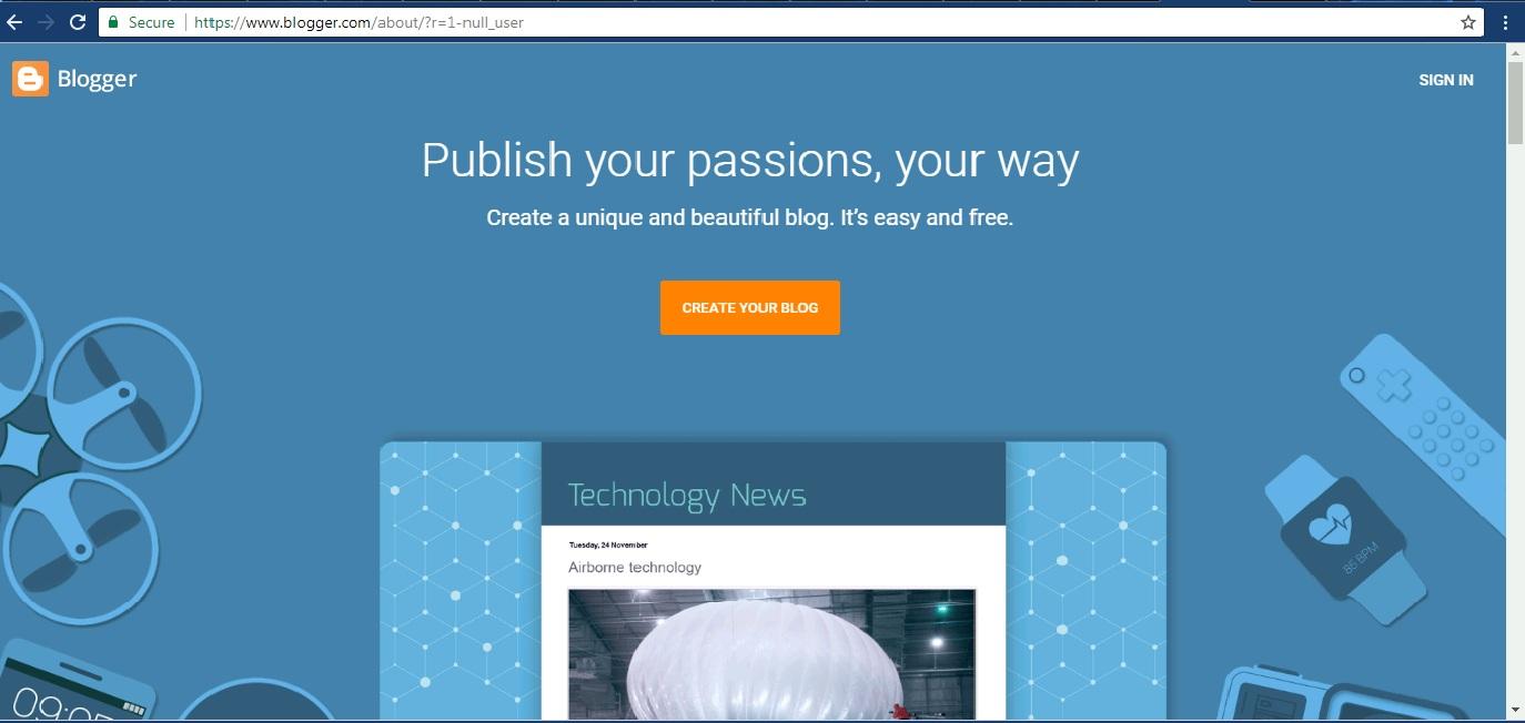 Reasons why you should choose google blogger blogspot platform