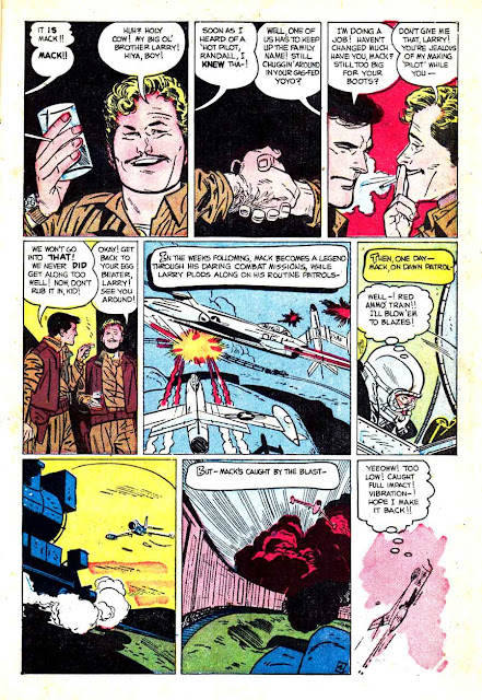 Jet Fighters v1 #5 standard war comic book page art by Alex Toth