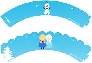 Wrappers para Cupcake para Imprimir Gratis de Frozen Bebé .