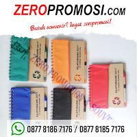 Memo Resleting bening Ekonomis dan praktis, agenda ekslusif, notebook, notes, Memo Cokelat + Kantong + Pen 902, Souvenir Dompet memo Resleting