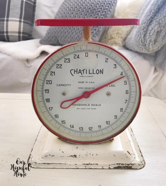red Chatillon farmhouse scale
