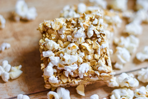No bake sweet and salty popcorn bars