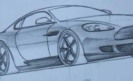 How to draw a car 3d step by step hd aston martin