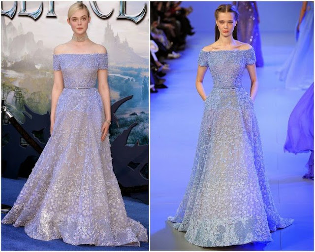 Elle Fanning in Elie Saab Couture – 'Maleficent' World Premiere