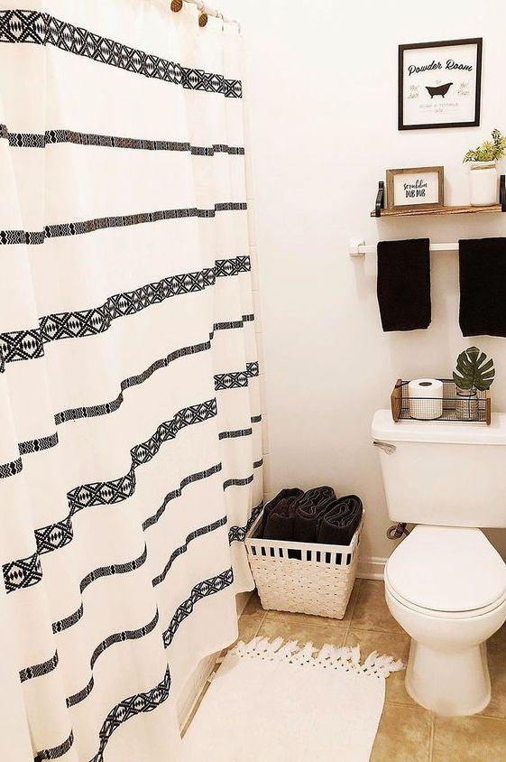 "Bathroom Decor - Better Homes & Gardens 72"" x 72"" Tribal Chic Shower Curtain"