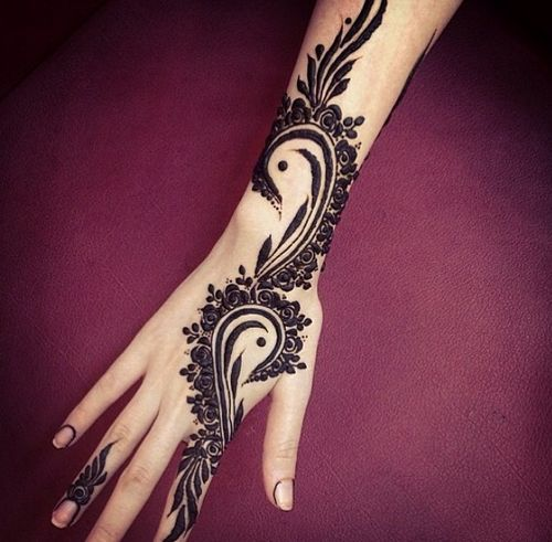 Black Arabic Henna Mehndi Designs For Hands