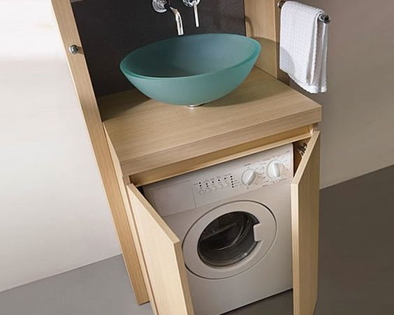 affordable small bathrooms ideas with washing machines