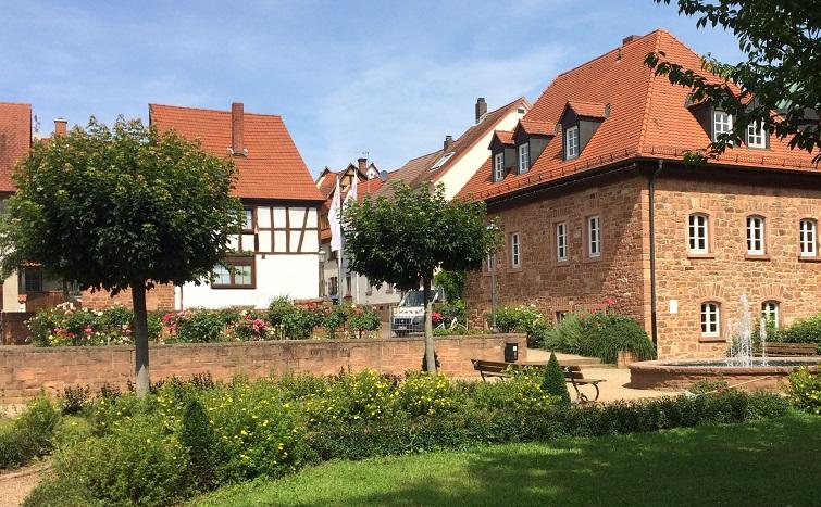 Rosengarten der Stadt Obernburg