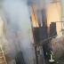 Incendio in uno stabile disabitato di via Torrente. Intervenuti i vigili del fuoco