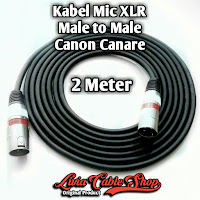 Kabel Mic XLR Male To Male Canon Canare 2 Meter