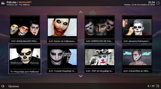 Vídeos de maquillaje Halloween en MANUART