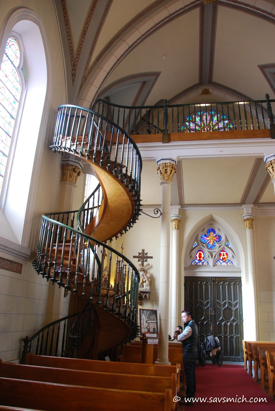 Savsmich Travel Diary Loretto Chapel Santa Fe New Mexico   Stairs Of Loretto Chapel