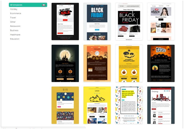 Large gallery of responsive templates