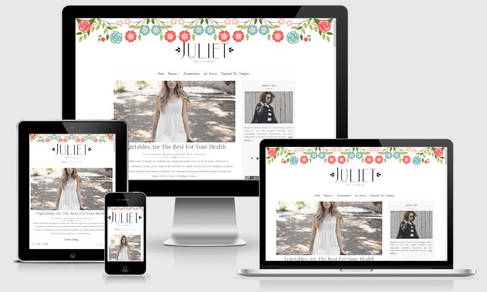 Juliet - Responsive Minimal Blogger Template