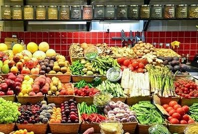 Verduras y frutas antioxidantes