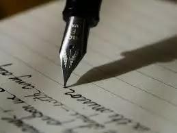 menulis pena tinta