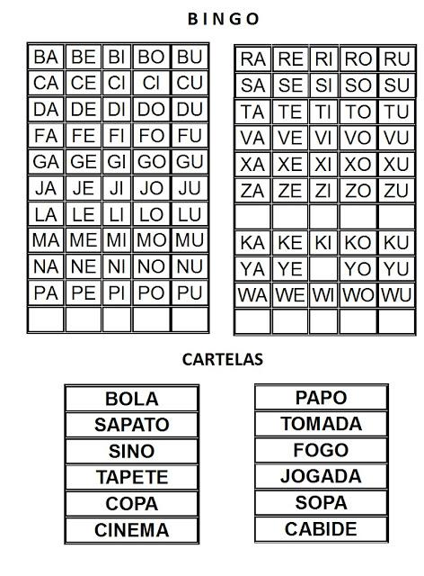 Jogos Pedagogicos Alfabetizando Com Bingo So Escola
