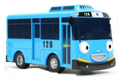 TAYO EL PEQUEÑO AUTOBUS - Vehículo Tayo : Bus Azul | Serie Youtube | TAYO THE LITTLE BUS | JUGUETE detalle del protagonista