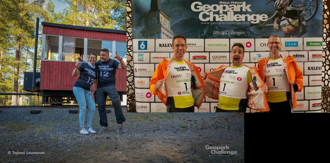 Tiimi Geopark Challangessa 2014 ja 2021 by Tapani Launonen