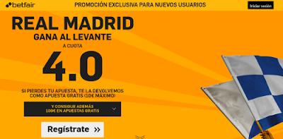 betfair Real Madrid gana Levante supercuota 4 Liga 2 marzo