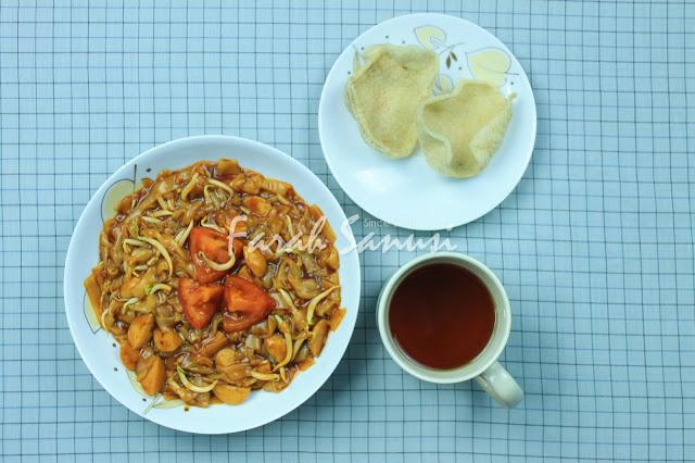 Resepi Kuey Teow Goreng Basah