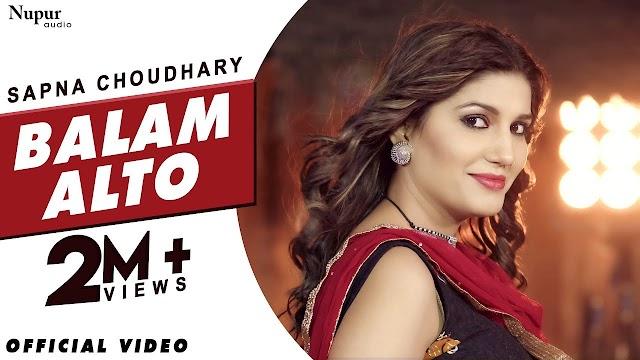 बलम अल्टो Balam Alto Lyrics in Hindi - Sapna Chaudhary