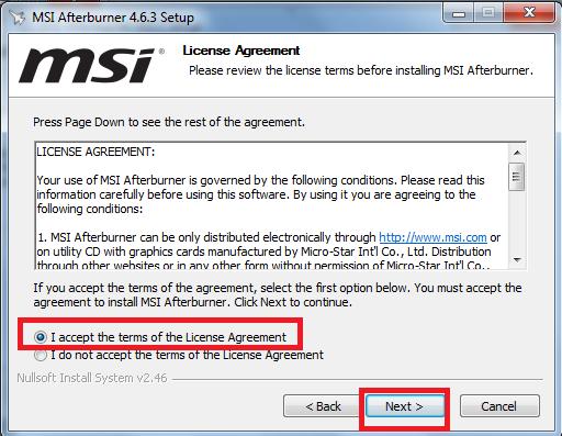 Hướng dẫn cài đặt phần mềm MSI Afterburner 4.6.3 mới nhất trên máy tính c