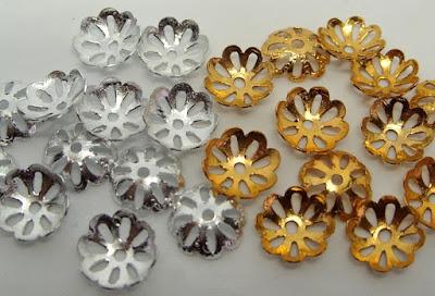 plated jewellery findings bead cap