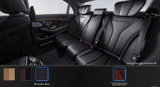 Nội thất Mercedes S400 L 2017 màu Nâu Nut 214