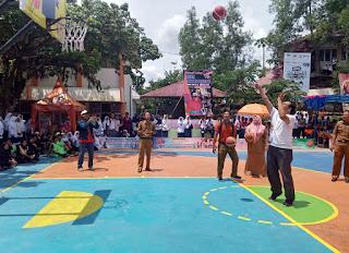 Turnamen Basket se-Sumbar Ditabuh di SMPN 5 Kota Solok