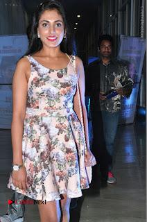 Actress Madhu Shalini Stills in Floral Short Dress at RGV Shiva to Vangaveeti Event  0074.JPG