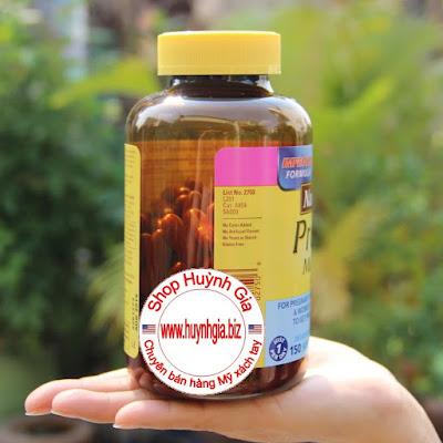 thuốc bổ cho bà bầu Nature Made Prenatal Multi + DHA của Mỹ www.huynhgia.biz Hàng Mỹ xách tay