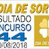 Resultado do Dia de Sorte concurso 44 (30/08/2018) ACUMULOU!!!