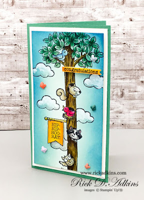 Mini Slimline Card using the Woodland Wonder Stamp Set from Stampin' Up!, The Spot Challenge 150 click here to learn more