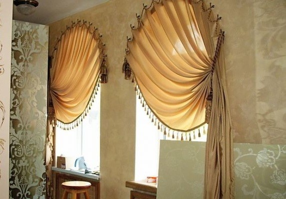 Curtains Ideas curtains for oval windows : 20 Arch window curtains and Tips on Arched Window Treatments