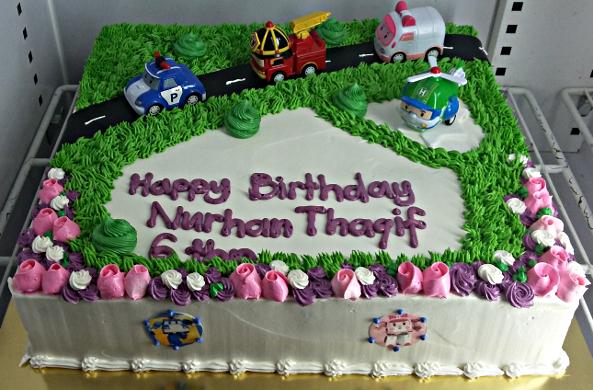 Robocar Poli Birthday Cake (Album 4)   Muffin Kaseh Azean