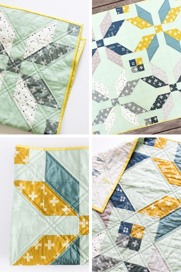 Winter Start Quilt featuring Heartland collection | Exploring Art Gallery Fabric Substrates | Shannon Fraser Designs #quilting #artgalleryfabrics #textiles
