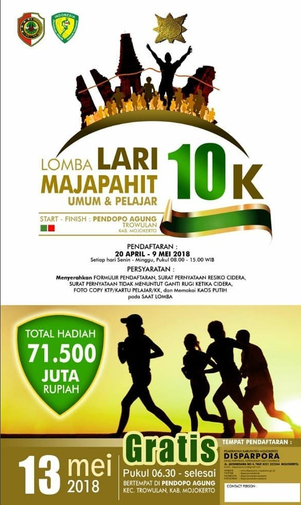 Lomba Lari Majapahit 10K • 2018