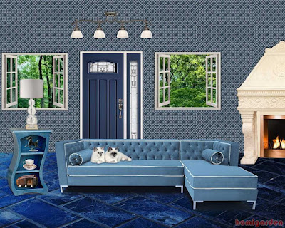 Color Schemes for Living Rooms with Blue Carpet