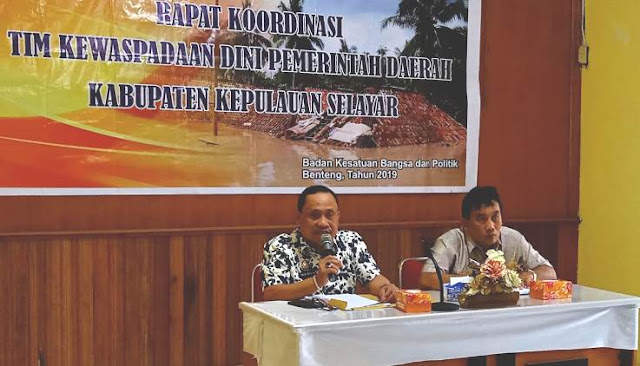 Antispasi Konflik Sosial, Badan Kesbangpol Selayar, Gelar Rakor Dengan Kepala Desa