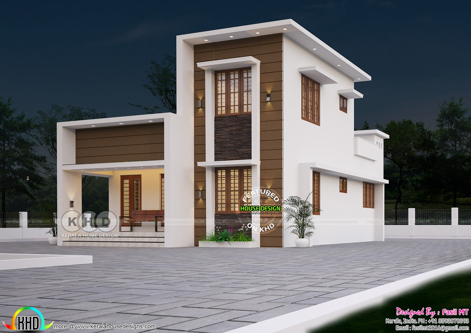 1200 sq-ft 3 bedroom modern double storied home - Kerala ...