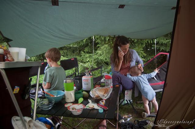 biwak, dziecko , camping, namiot, rodzinnie, wakacje