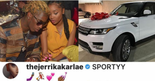 U.S Rapper, Young Thug buys a range rover for his fiancee for her birthday
