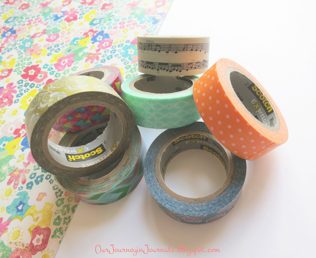 several rolls of washi tape