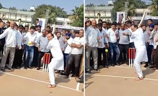 ajit pawar played cricket match