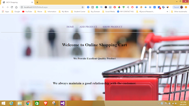 Shopping Cart Project using C#