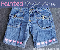 painted cuffed shorts